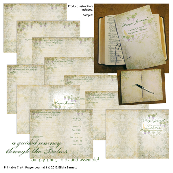"You may also like: <a href=""http://store.scrapgirls.com/product/25345/"">Printable Craft: Prayer Journal </a> (sold separately)"
