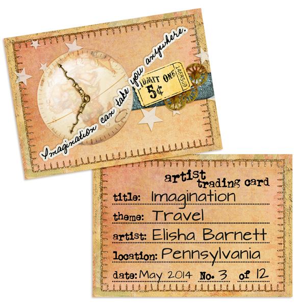 Artist Trading Card using ScrapSimple Paper Templates: ATC Backgrounds and Edges