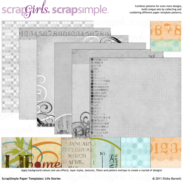 "You may also like <a href=""http://store.scrapgirls.com/product/24876""></a>ScrapSimple Paper Templates: Life Stories"