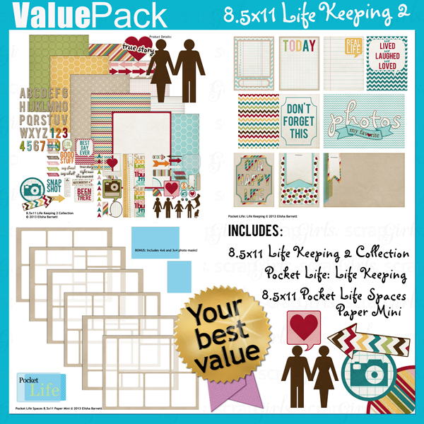 Value Pack: 8.5x11 Life Keeping 2