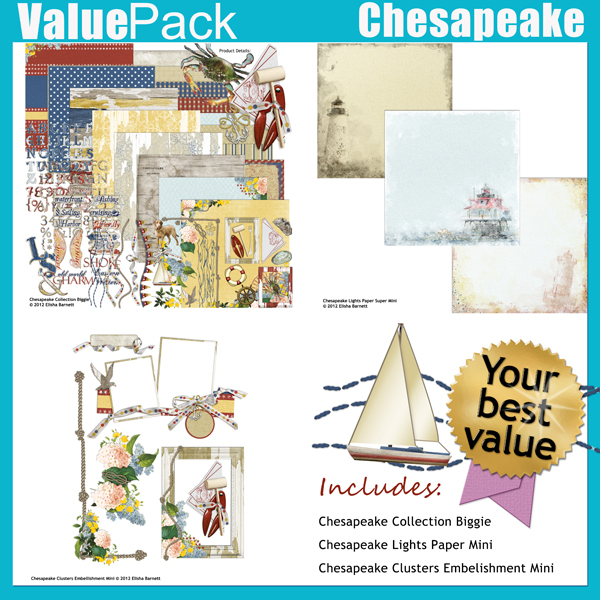 "This product is available in a Value Pack: <a href=""http://store.scrapgirls.com/product/26411/"">Value Pack: Chesapeake </a> (sold separately)"