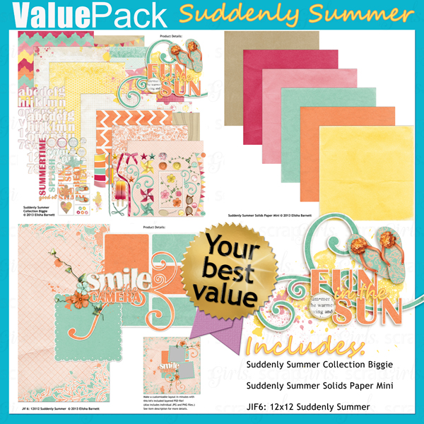 "You may also like <a href=""http://store.scrapgirls.com/value-pack-suddenly-summer-p28939.php"">Value Pack: Suddenly Summer</a> (sold separately)"
