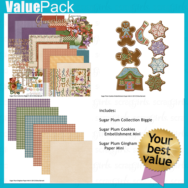 "Get more for your money with <a href=""http://store.scrapgirls.com/value-pack-sugar-plum-p27474.php"">Value Pack: Sugar Plum</a> (sold separately)"