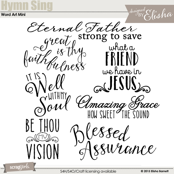 Hymn Sing Word Art Mini