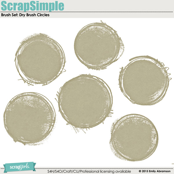 Brush Set: Dry Brush Circles