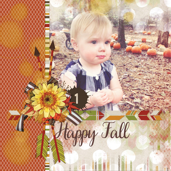 """Happy Fall"" layout created with the Campy Collection"