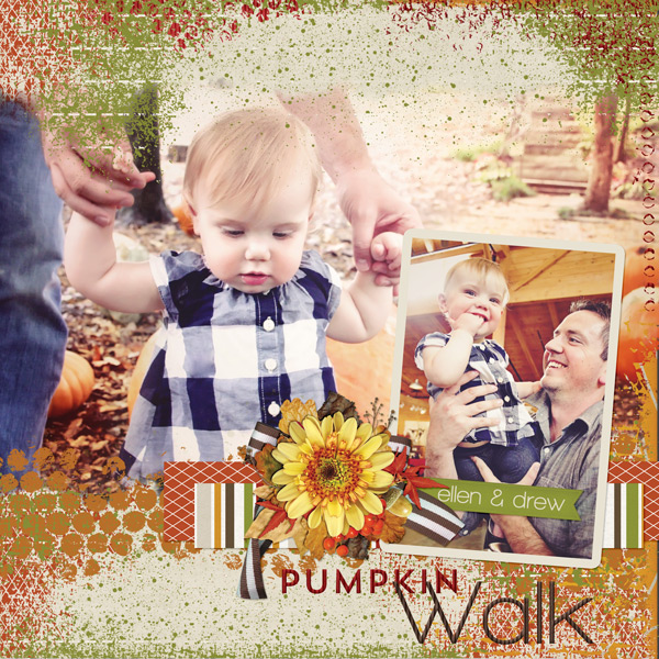 """Pumpkin Walk"" layout created with the Campy Collection"