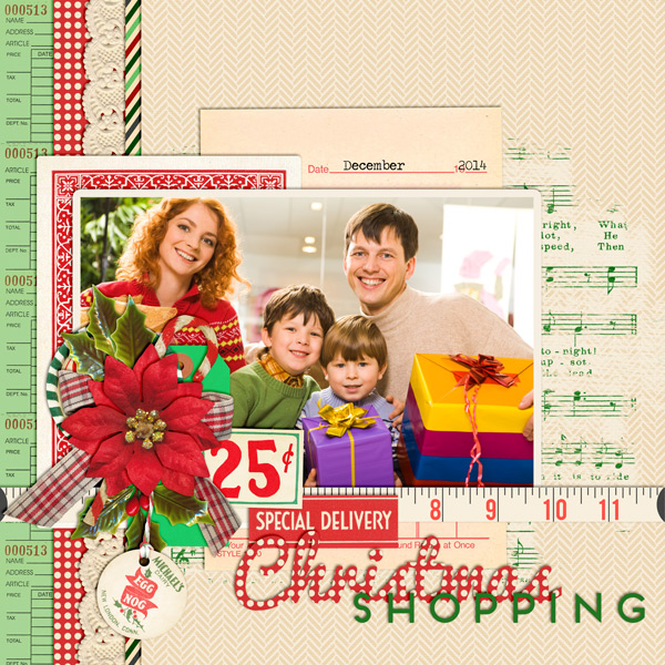 """Christmas Shopping"" layout created using the Christmas Shopping Collection"