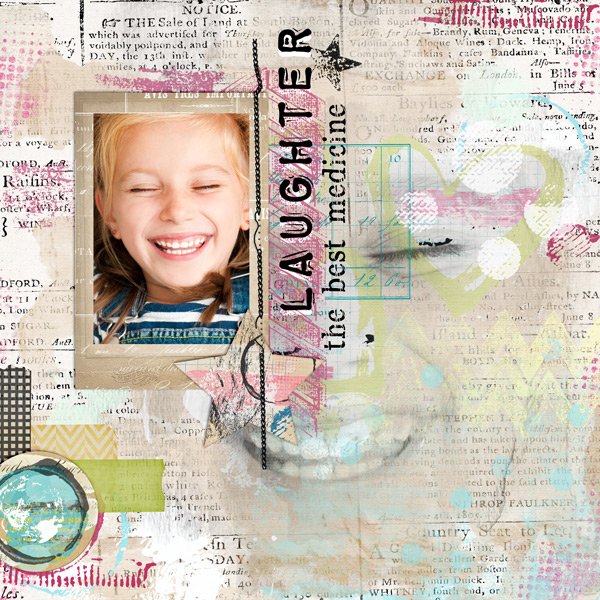 """Laughter"" layout created using the Mixed Up Papers 1"