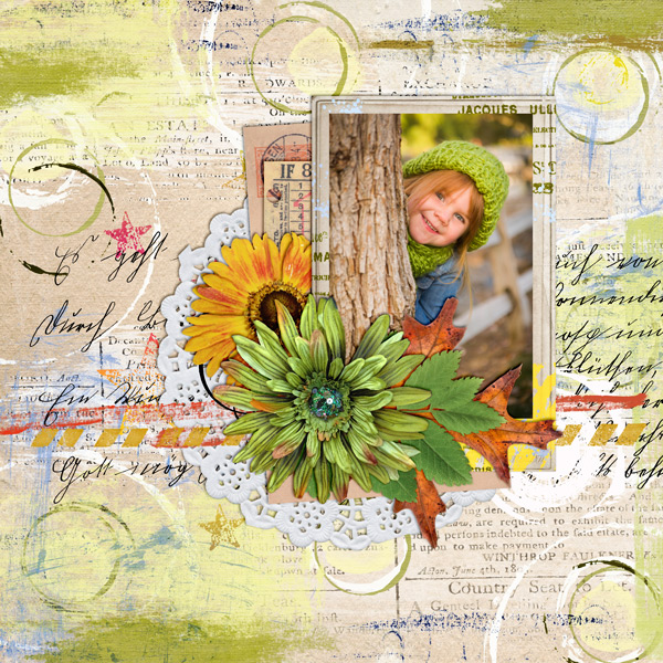 """Fall Journal"" layout created using the Mixed Up Papers 1"
