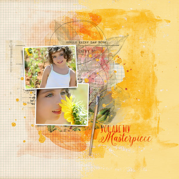 """""""You are my Masterpiece"""" layout created using the Mixed Up Transfers Embellishment Mini 1"""