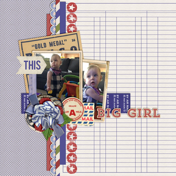 """Big Girl"" layout created using the Needful Things Collection Biggie"