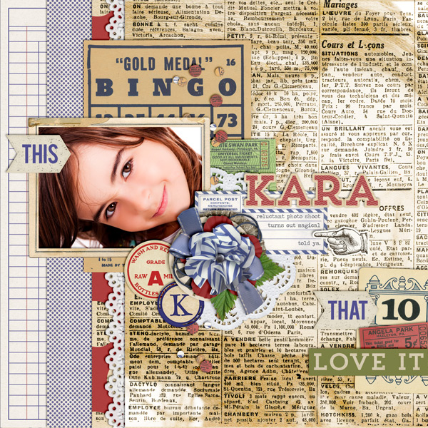 """Kara"" layout created using the Needful Things Collection Biggie"