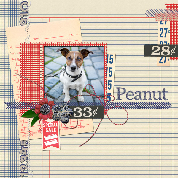 """Peanut"" layout created with the Spree Collection Biggie"