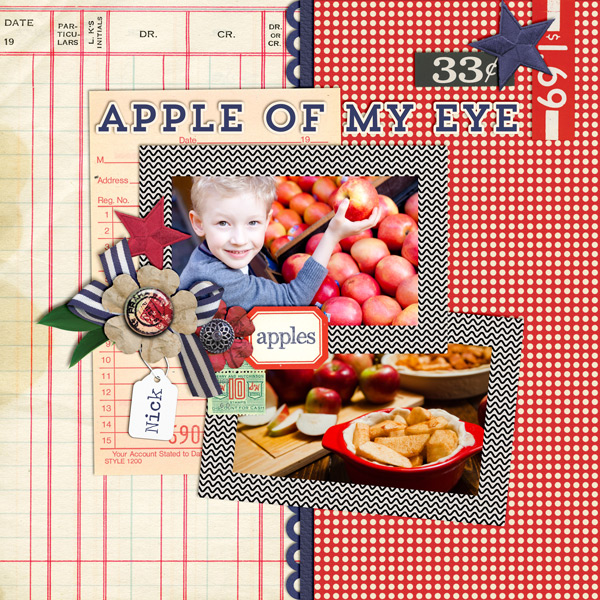 """Apple of My Eye"" layout created with the Spree Collection Biggie"