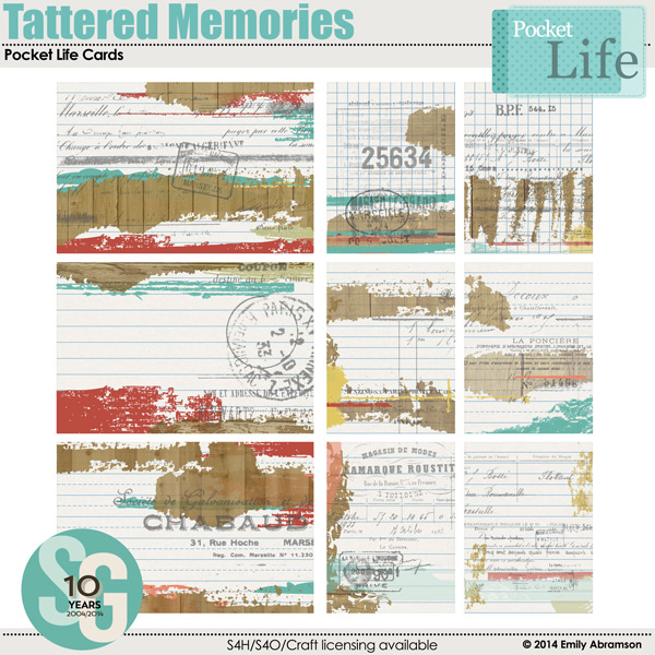 Also Available:  Tattered Memories Pocket Life Cards