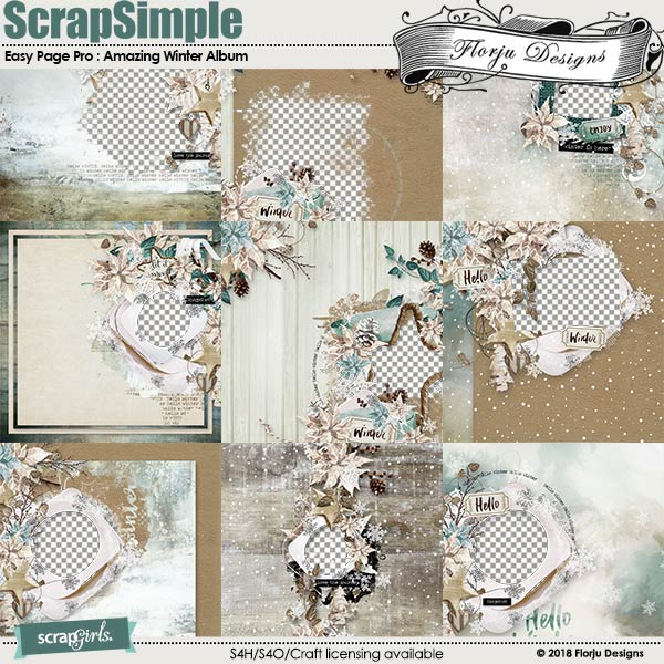 Easy Page Pro: Amazing Winter Album by Florju Designs