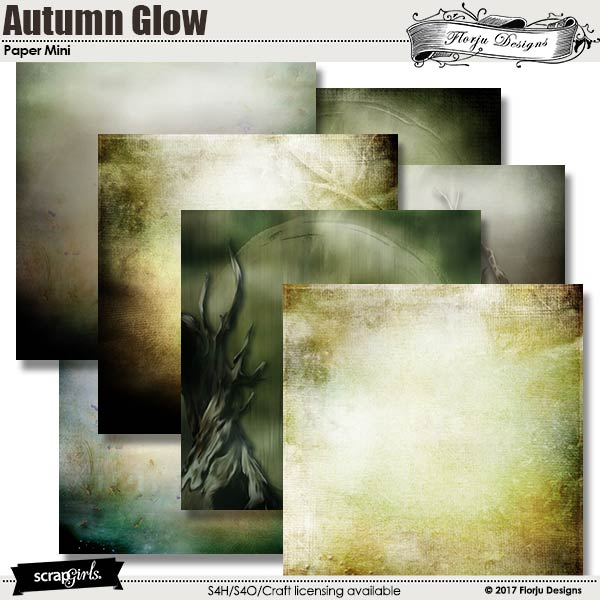 Autumn Glow Papers Mini by florju designs