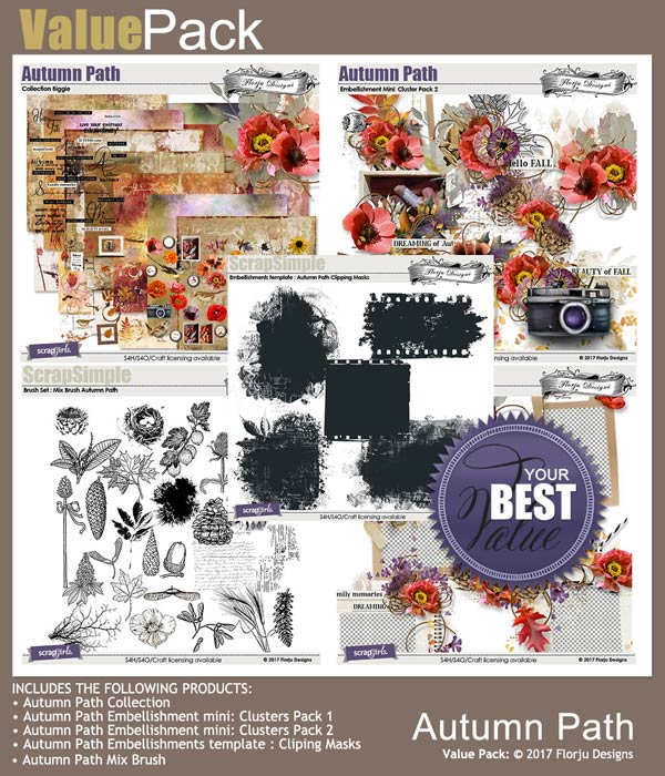 Value Pack: Autumn Path by florju designs