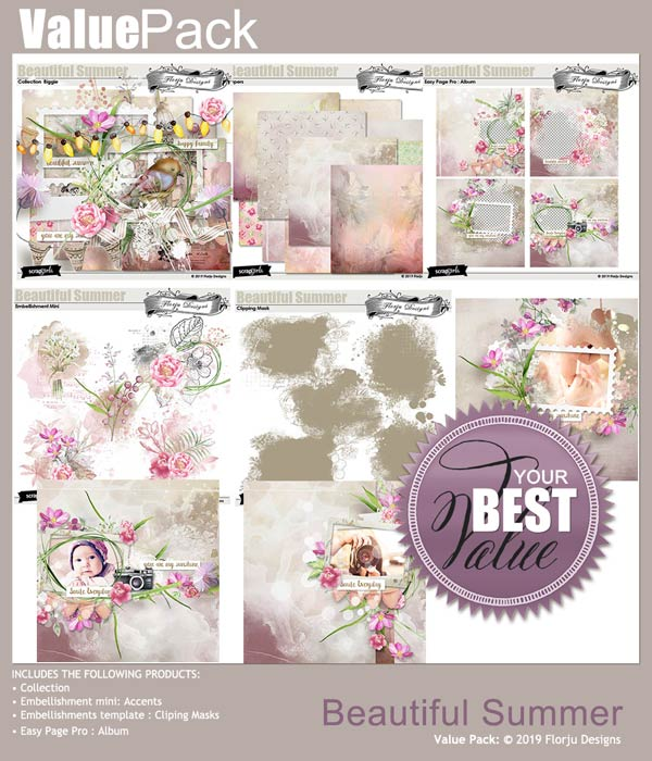 Value Pack: Beautiful Summer by Florju designs