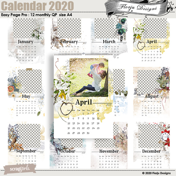 Calendar 2020 Easy Page Pro by florju