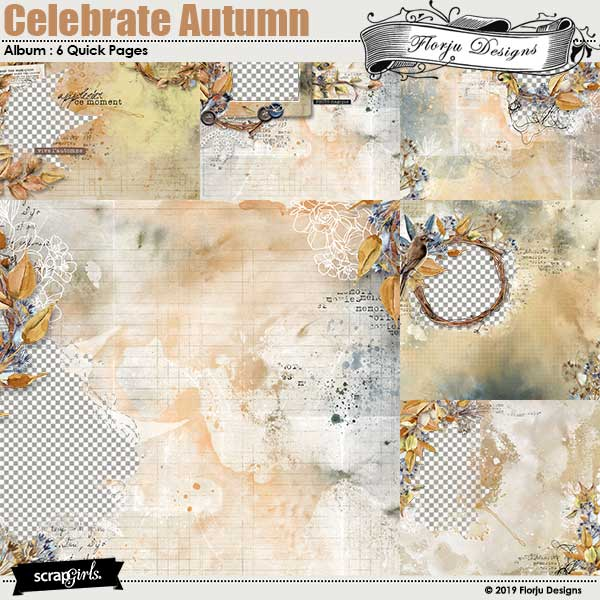 Celebrate Autumn Easy Page Pro : Quick Pages by Florju Designs