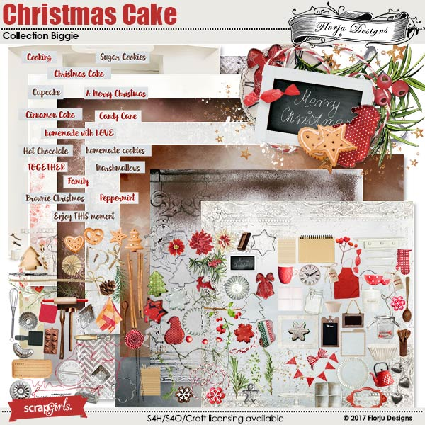 Christmas Cake Collection Biggie by florju designs