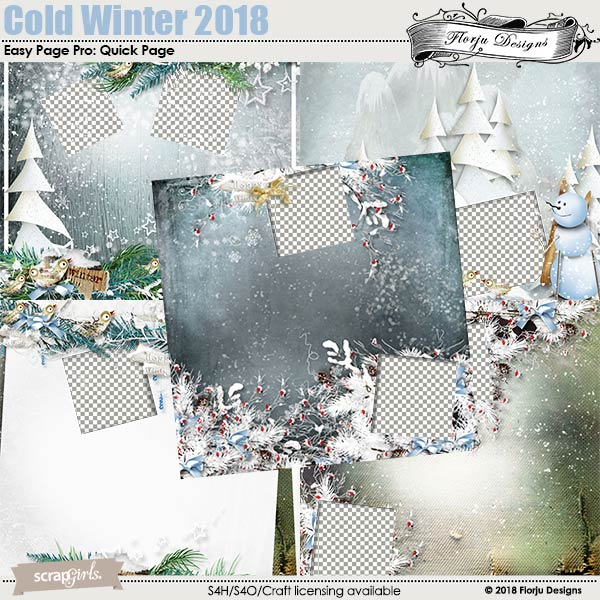 Easy Page Pro: Cold Winter 2018 Album by Florju designs