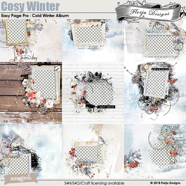 Easy Page Pro: Cosy Winter Album by Florju Designs