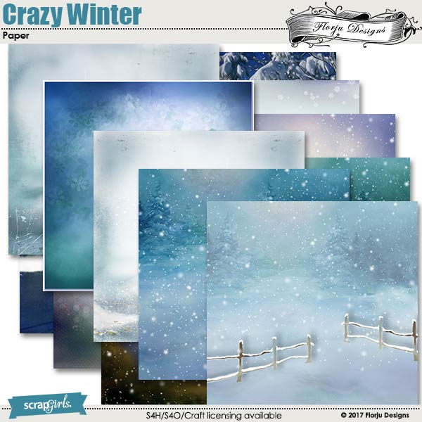 Crazy Winter Paper by florju designs