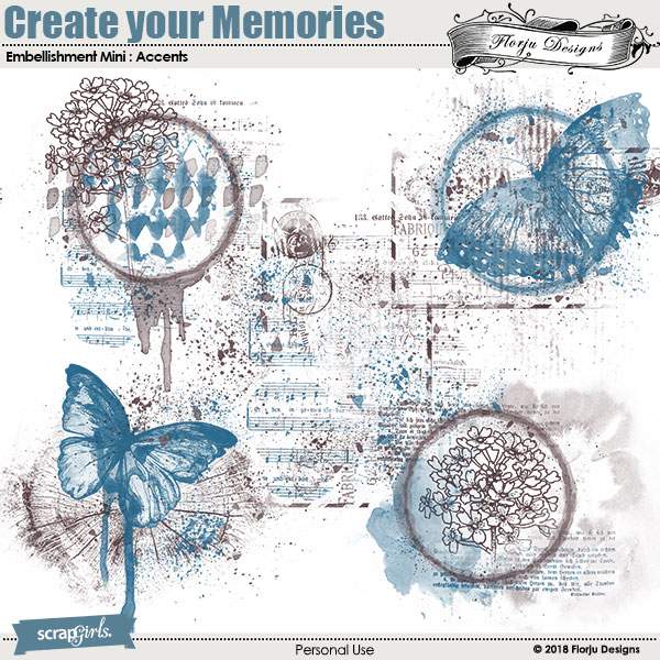 Create Your Memories Embellishment mini: Accents by florju designs