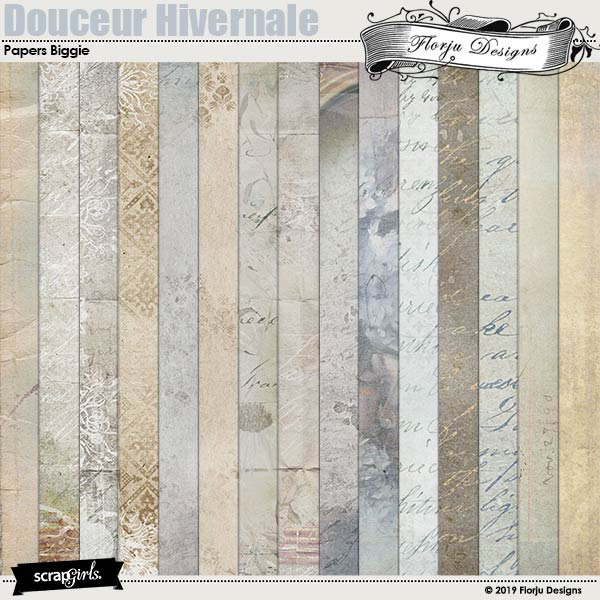 Douceur Hivernale Papers Biggie by Florju designs