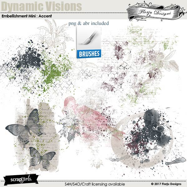 Dynamic Visions Embellishment Mini: Accent by florju designs