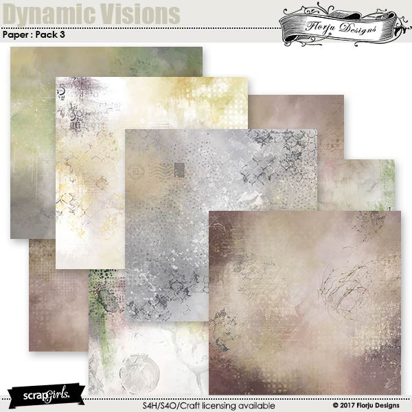 Dynamic Visions Papers Mini Pack 3 by florju designs