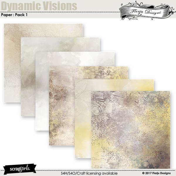 Dynamic Visions Papers Mini Pack 1 by florju designs