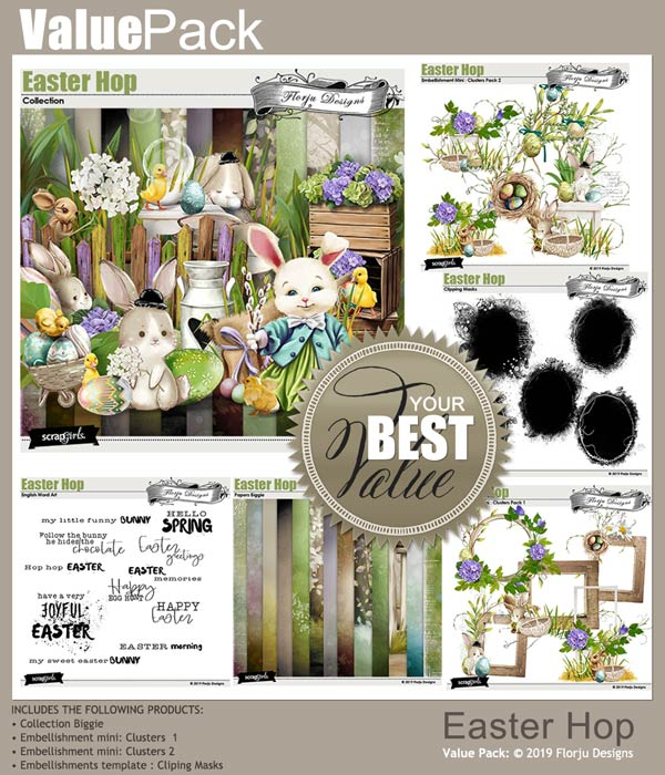 Value Pack : Easter Hop by Florju Designs