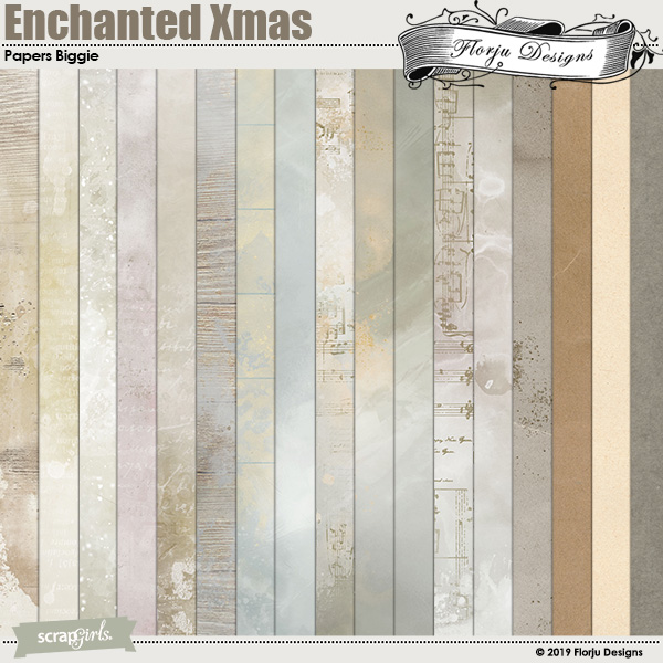 Enchanted Xmas Papers Biggie by Florju designs