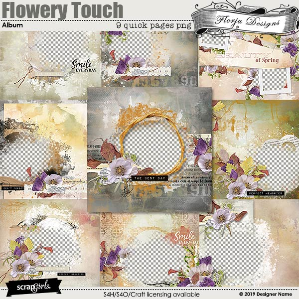 Easy Page Pro: Flowery Touch Album by Florju Designs