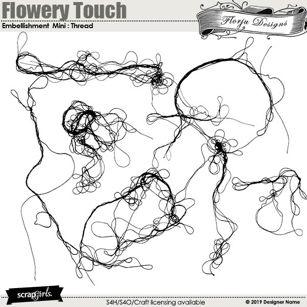 Flowery Touch Embellishments Mini : Threads by Florju Designs
