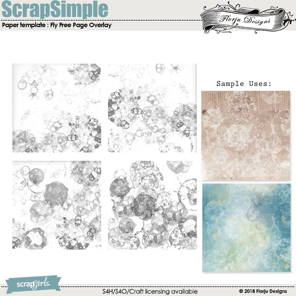 ScrapSimple Paper Templates : Fly Free by Florju designs