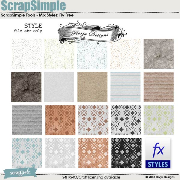 ScrapSimple Tools -  Mix Styles: Fly Free by Florju Designs