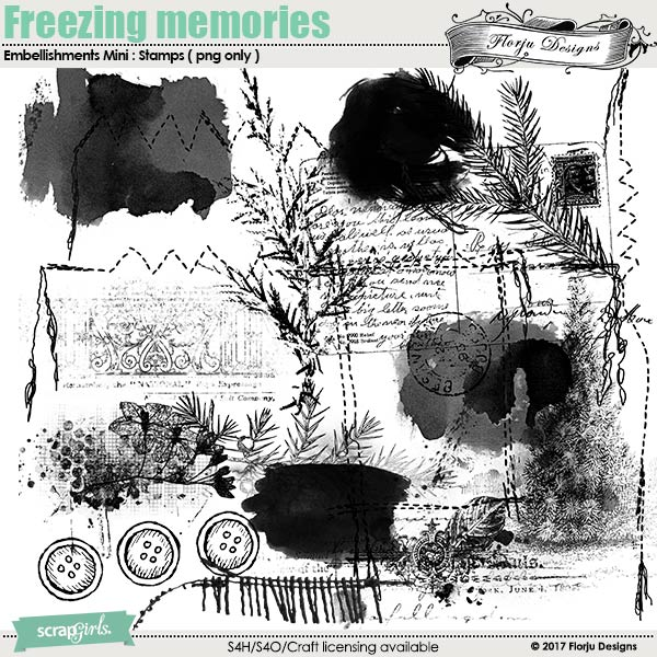 Freezing Memories Embellishment Mini: Stamp by florju designs