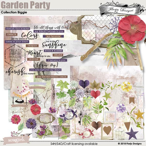 Garden Party Time Collection Biggie by florju designs