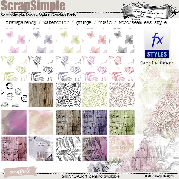 ScrapSimple Tools - Styles:Garden Party Time by florju designs