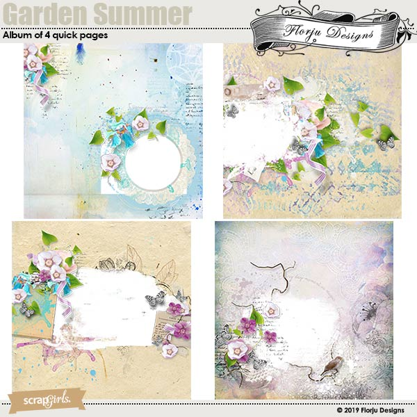 Garden Summer Easy Page Pro by Florju Designs
