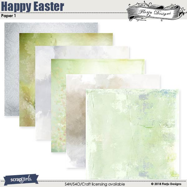 Happy Easter Paper Mini: Pack 1 by florju designs