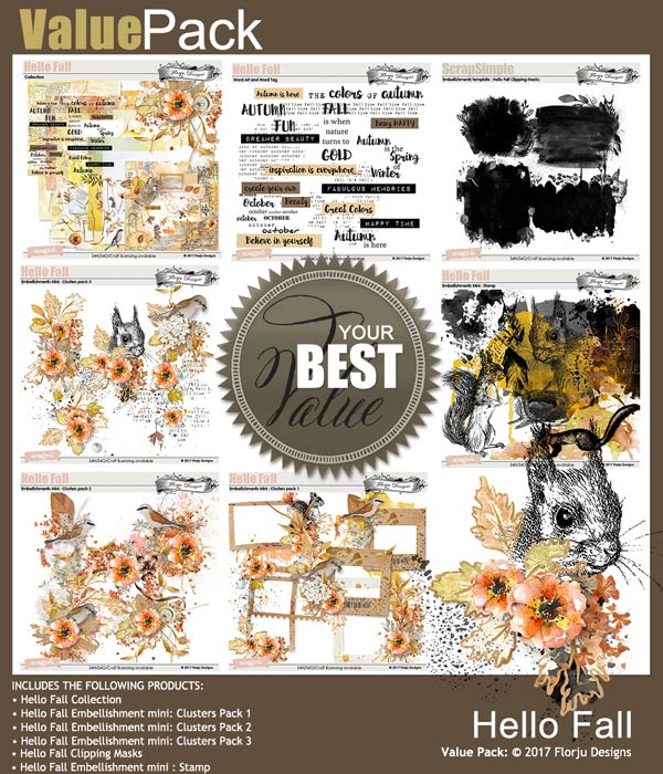 Value Pack: Hello Fall by Florju Designs
