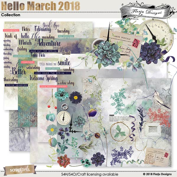 Hello March 2018 Collection by florju designs