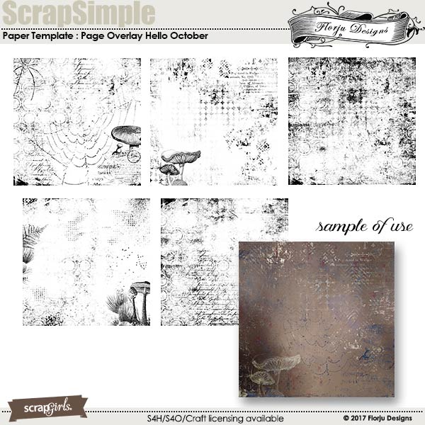 ScrapSimple Paper Templates: Hello October by florju designs