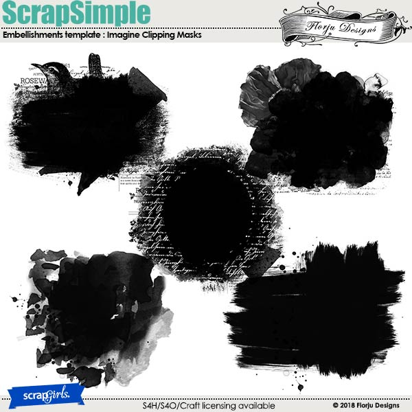 ScrapSimple Embellishment template: Imagine Clipping Mask by Florju designs